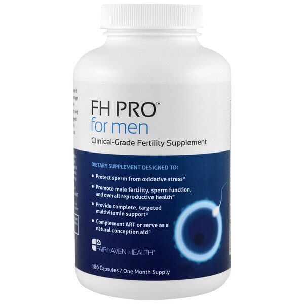 FH Pro for Men, Clinical Grade Fertility Supplement, 180 Capsules
