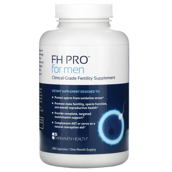 Fairhaven Health, FH Pro كبسولات للرجال،لتعزيز الخصوبة ، 180 كبسولات