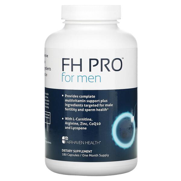 FHPro para hombres, Suplemento de calidad clínica para favorecer la fertilidad, 180cápsulas