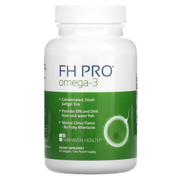 Fairhaven Health, FH Pro Omega-3, Natural Citrus, 90 Softgels