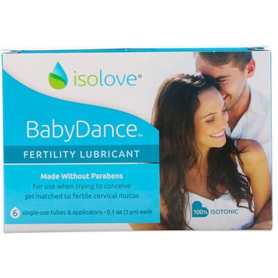Купить Fairhaven Health Isolove, BabyDance, интимная смазка для повышения фертильности, 6 одноразовых тюбиков и аппликаторов по 3 г (0, 1 унции) каждый