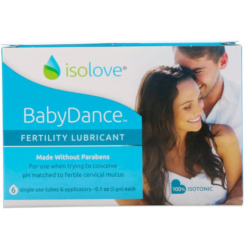 Isolove, BabyDance Fertility Lubricant, 6 Single-Use Tubes & Applicators, 0.1 oz (3 g) Each