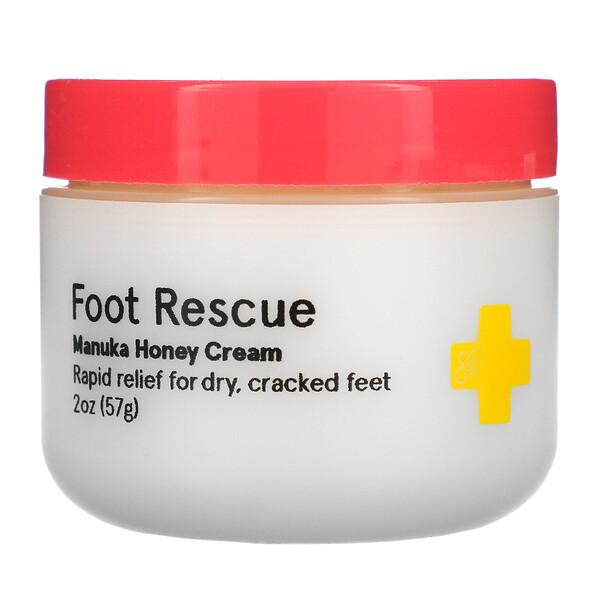Foot Rescue, Manuka Honey Cream, 2 oz  (57 g)