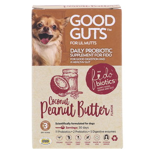Fidobiotics, Good Guts, Daily Probiotic, For Lil Mutts, Coconut Peanut Butter, 3 Billion CFUs, 0.5 oz (15 g)