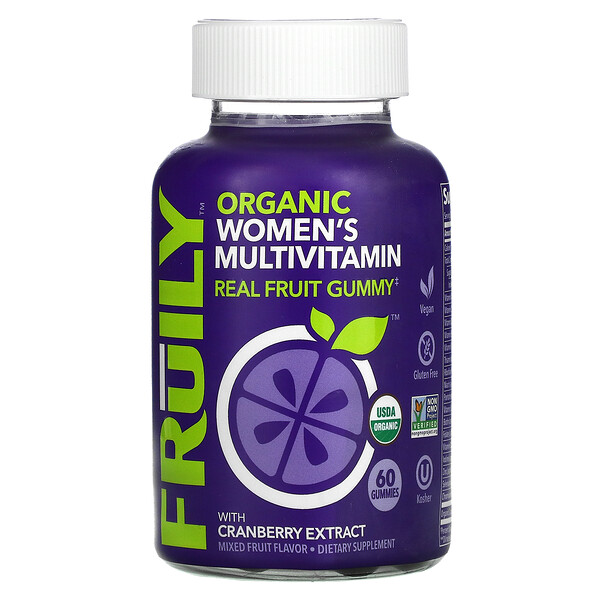Organic Women's Multivitamin, With Cranberry Extract, Mixed Fruit, 60 Gummies