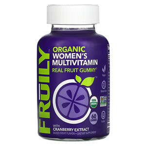 Fruily, Organic Women's Multivitamin, With Cranberry Extract, Mixed Fruit, 60 Gummies