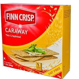 Finn Crisp, Crackers de Pan Finas Caraway, 7 oz (200 g)