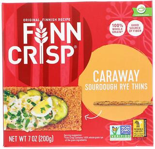 Finn Crisp, Caraway Sourdough Rye Thins, 7 oz (200 g)