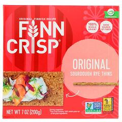 Finn Crisp, Хлебцы из кислого ржаного теста, Оригинальный вкус, 7 унц. (200 г)