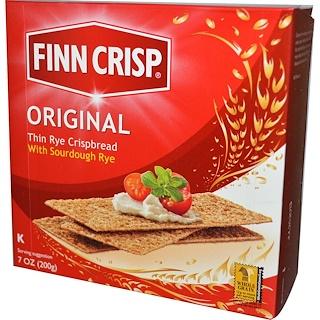 Finn Crisp, 씬 라이 크리스피브래드, 오리지널 , 7 온즈 (200 g)