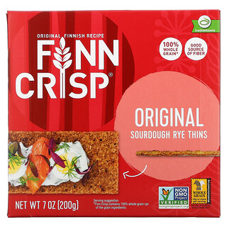 Finn Crisp, Sourdough Rye Thins, Original, 7 oz (200 g)