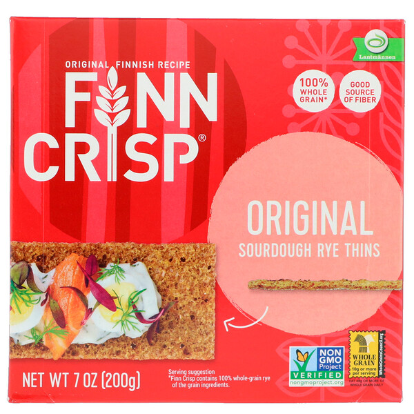 Finn Crisp, Sourdough Rye Thins, Original, 7 oz (200 g)