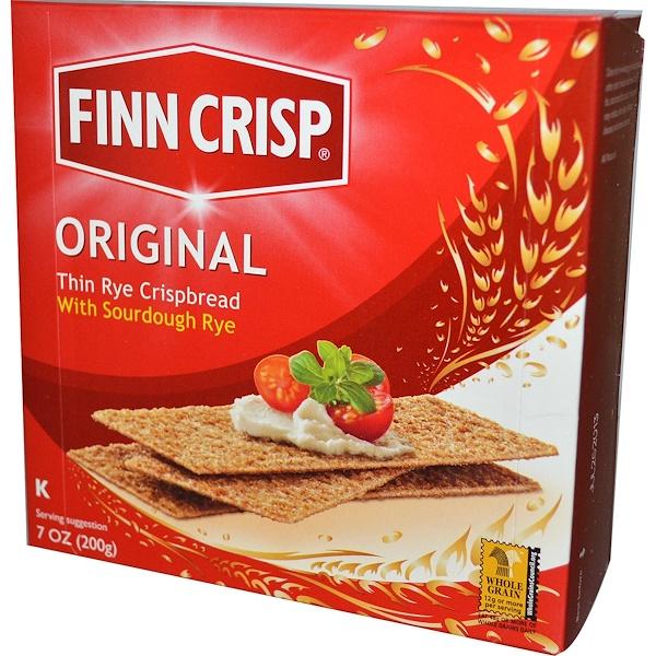 Finn Crisp, Оригинальные, тонкие хлебцы из ржи, 7 унций (200 г)