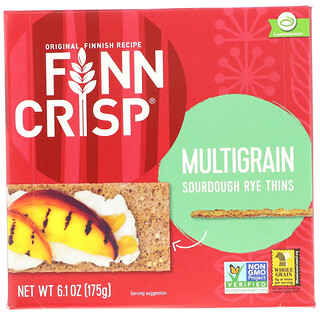 Finn Crisp, Multigrain Sourdough Rye Thins, 6.2 oz (175 g)