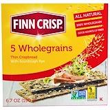 Отзывы о Finn Crisp, Тонкие хрустящие хлебцы из 5 видов цельных злаков, 6,7 унции (190 г)