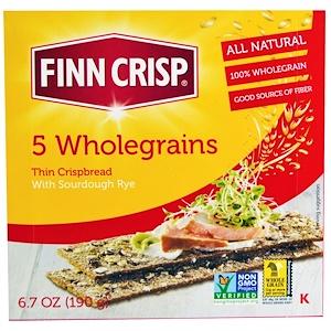 Фин Крисп, 5 Wholegrains Thin Crispbread, 6.7 oz (190 g) отзывы покупателей