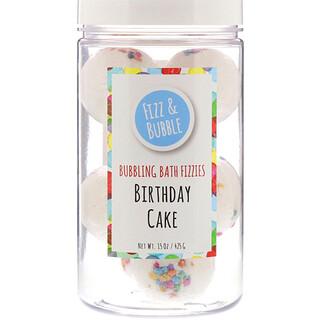 Fizz & Bubble, 冒泡沐浴泡沫剂,生日蛋糕味,15 盎司(425 克)