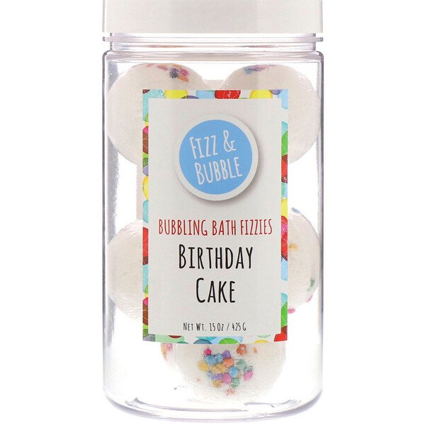 Bubbling Bath Fizzies, Birthday Cake, 15 oz (425 g)