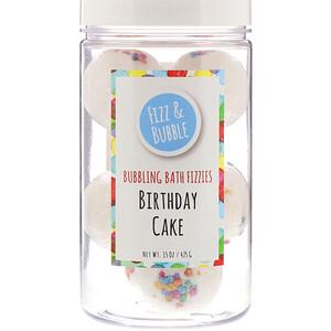 Fizz & Bubble, Bubbling Bath Fizzies, Birthday Cake, 15 oz (425 g) отзывы