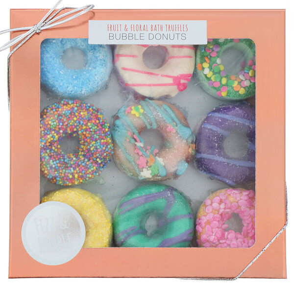 Fizz & Bubble, Fruit & Floral Bath Truffles, Bubble Donuts, 9.25 oz (262 g)