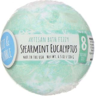 Fizz & Bubble, Artisan Bath Fizzy, Spearmint Eucalyptus, 6.5 oz (184 g)