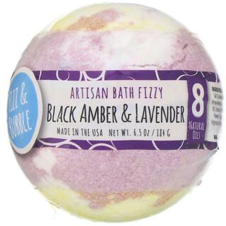 Fizz & Bubble, Artisan Bath Fizzy, Black Amber & Lavender, 6.5 oz (184 g)