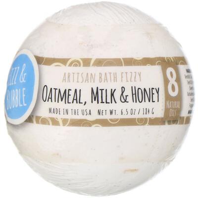 Купить Fizz & Bubble Шипучая бомбочка для ванны, ручной работы, «Овсянка, молоко и мед», 184г