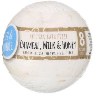 Fizz & Bubble, Artisan Bath Fizzy, Oatmeal, Milk & Honey, 6.5 oz (184 g)
