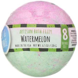 Fizz & Bubble, Artisan Bath Fizzy, Watermelon, 6.5 oz (184 g)
