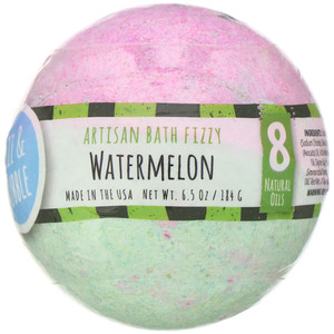 Fizz & Bubble, Artisan Bath Fizzy, Watermelon, 6.5 oz (184 g) отзывы покупателей