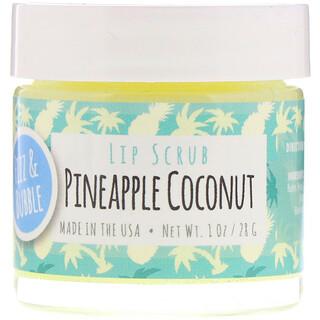 Fizz & Bubble, Lip Scrub, Pineapple Coconut, 1 oz (28 g)