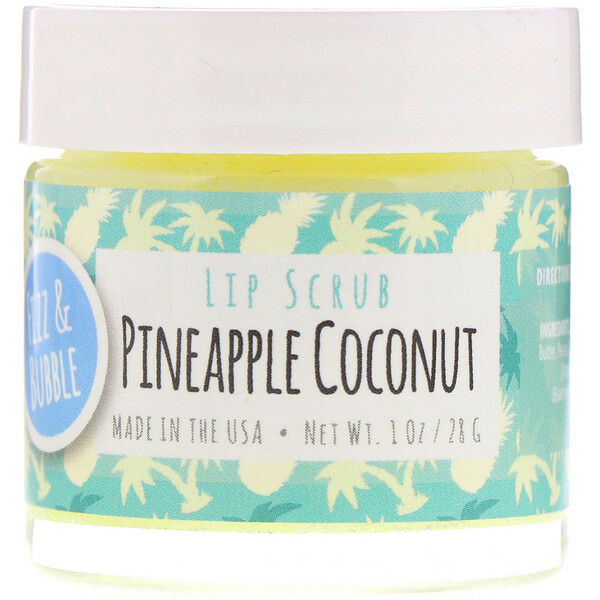 Fizz & Bubble, Exfoliante labial, Piña y coco, 28 g (1 oz)