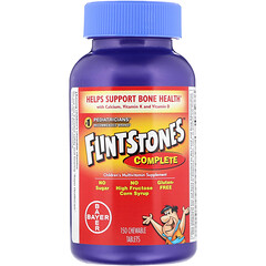 Flintstones, 完整,兒童多維生素補充劑,150 片咀嚼片
