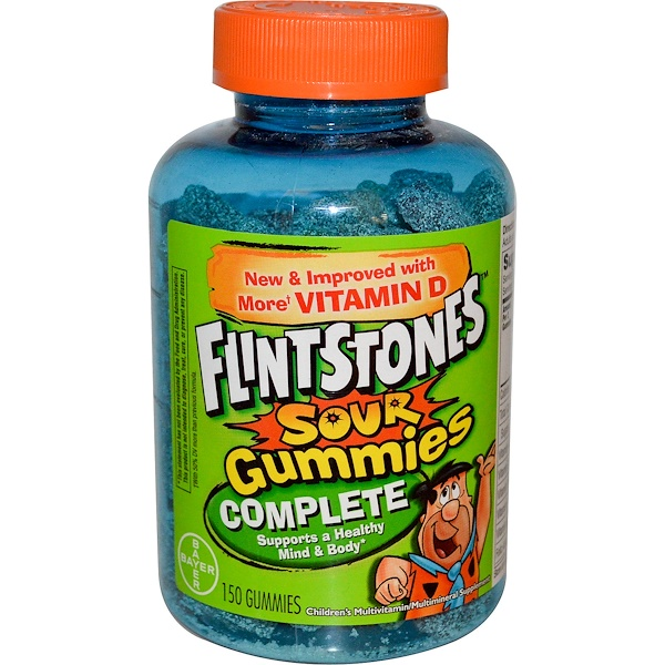 Flintstones, Sour Gummies Complete, Children's Multivitamin/Multimineral Supplement, 150 Gummies (Discontinued Item)