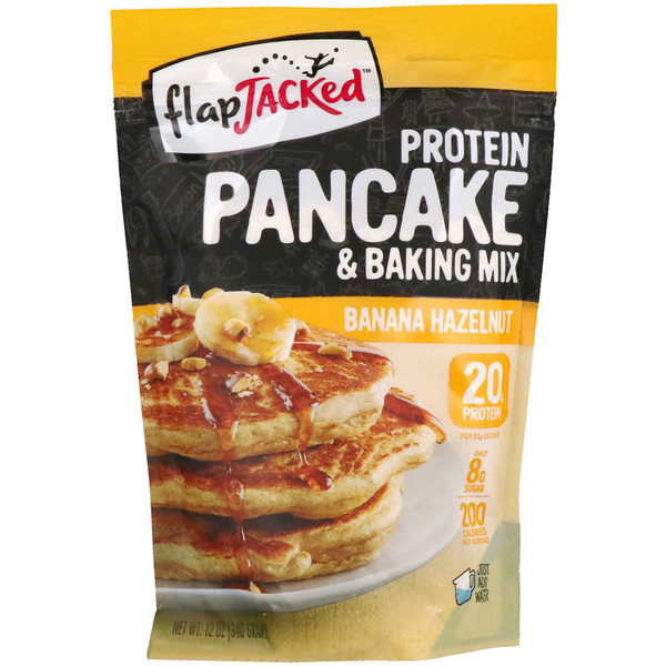 FlapJacked, Protein Pancake & Baking Mix, Banana Hazelnut, 12 oz (340 g) (Discontinued Item)