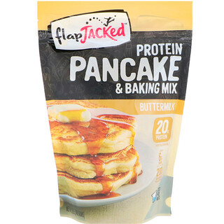FlapJacked, Protein Pancake and Baking Mix, Buttermilk, 12 oz (340 g)