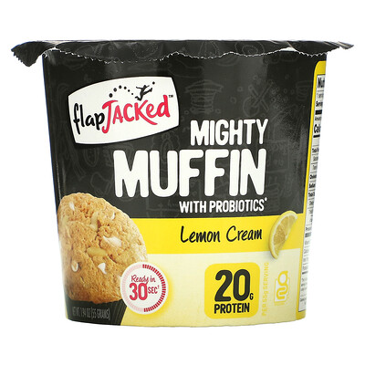 FlapJacked Mighty Muffin with Probiotics, Lemon Cream, 1.94 oz (55 g)