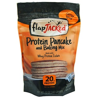 FlapJacked, Protein Pancake and Baking Mix, Carrot Spice, 12 oz (340 g)
