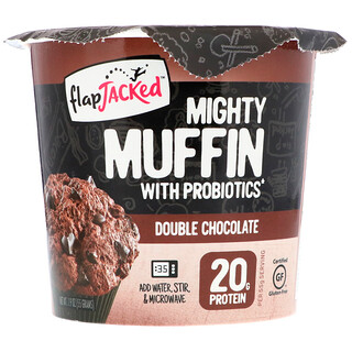 FlapJacked, Mighty Muffin with Probiotics, Double Chocolate, 1.94 oz (55 g)