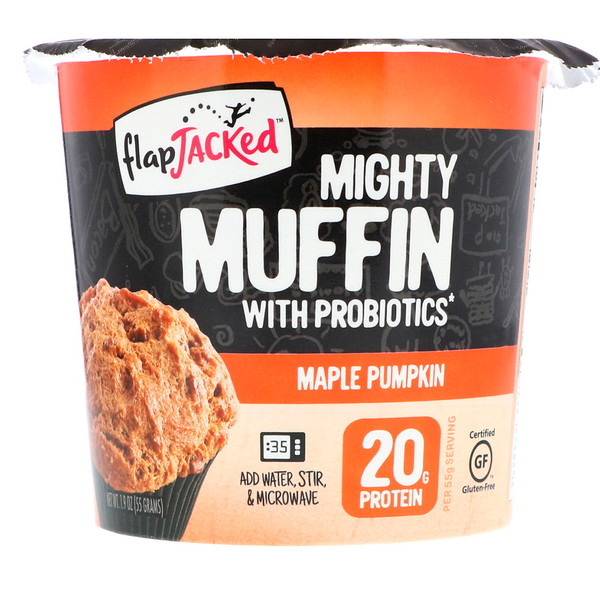FlapJacked, Mighty Muffin, with Probiotics, Maple Pumpkin, 1.94 oz (55 g) (Discontinued Item)
