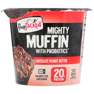 FlapJacked, Mighty Muffin With Probiotics, Chocolate Peanut Butter, 1.9 oz (55 g)