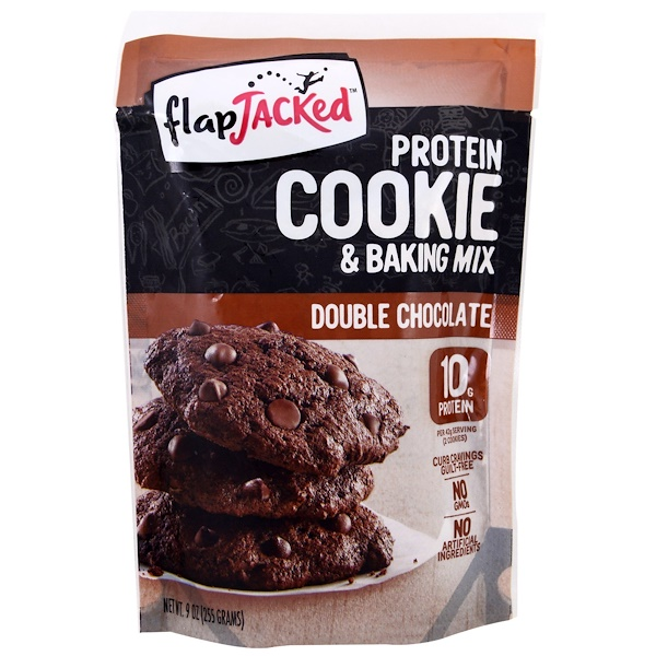 FlapJacked, Protein Cookie and Baking Mix, Double Chocolate, 9 oz (255 g)