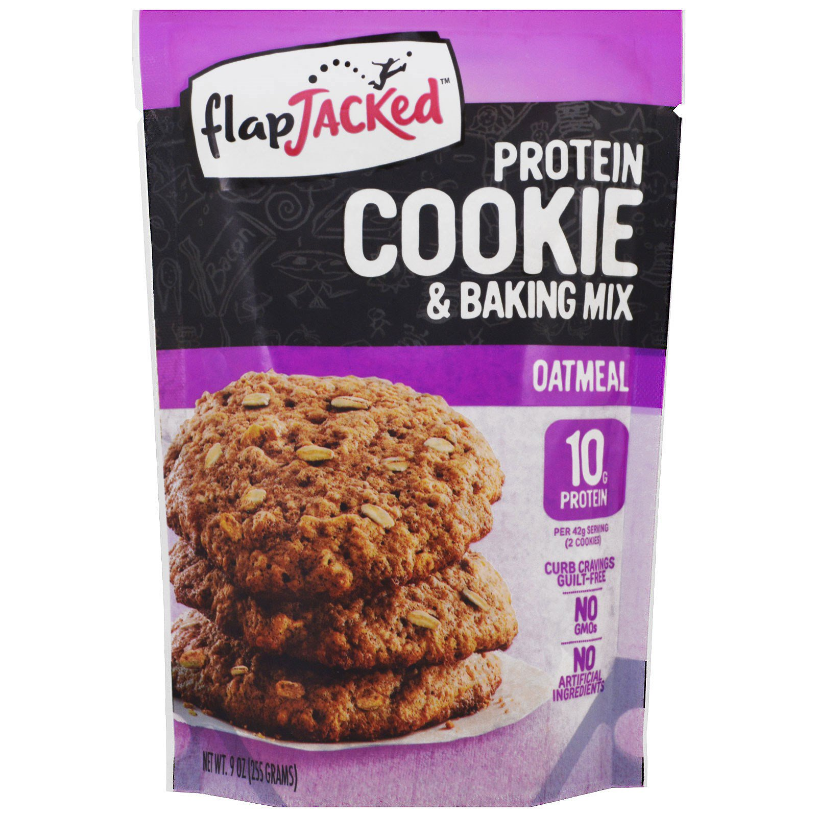 FlapJacked, Protein Cookie and Baking Mix, Oatmeal, 9 oz (255 g)
