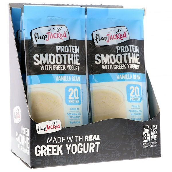 FlapJacked, Protein Smoothie With Greek Yogurt, Vanilla Bean, 12 Packets, 1.5 oz (42 g) Each (Discontinued Item)