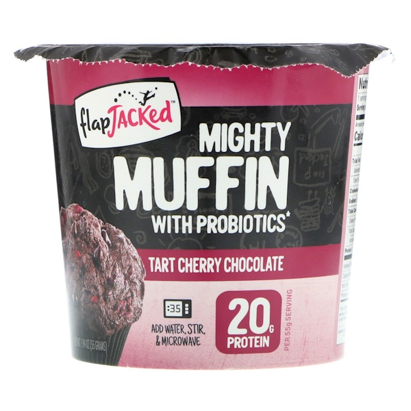 FlapJacked, Mighty Muffin with Probiotics, Tart Cherry Chocolate, 1.94 oz (55 g) (Discontinued Item)