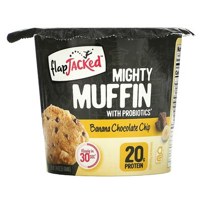 FlapJacked Mighty Muffin with Probiotics, Banana Chocolate Chip, 1.94 oz (55 g)