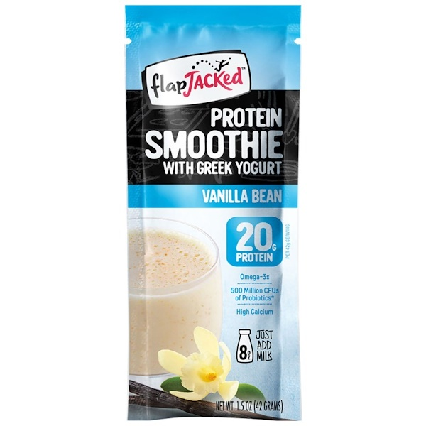 FlapJacked, Protein Smoothie With Greek Yogurt, Vanilla Bean, 1.5 oz (42 g) (Discontinued Item)