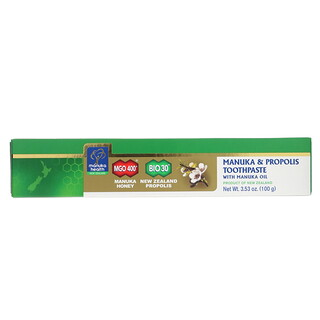 Manuka Health, マヌカオイル配合 マヌカ & プロポリス歯磨き粉、3.53オンス(100 g)