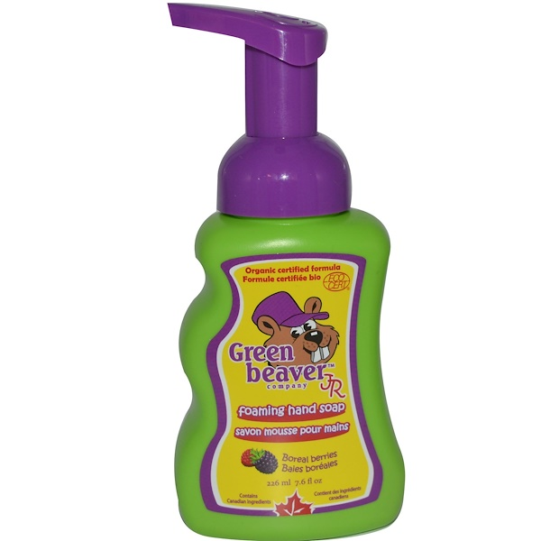Flora, Green Beaver Jr., Foaming Hand Wash, Boreal Berries, 7.6 fl oz (226 ml) (Discontinued Item)