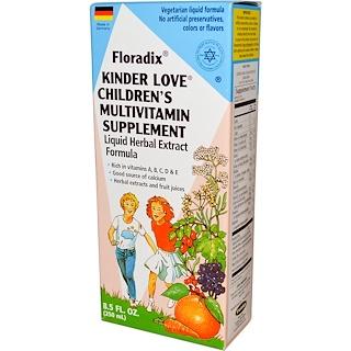 Flora, Floradix, Kinder Love مكمل غذائي متعدد الفيتامينات للأطفال، 8.5 أوقية سائلة (250 مل)